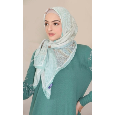 Mandjha Hijab Everything I Do Green Scarf Voal Premium
