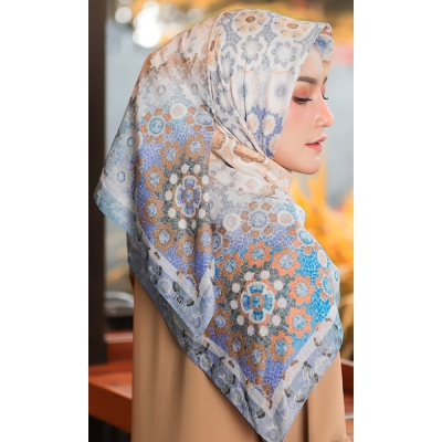 Mandjha Hijab Secret Love Blue Scarf Voal Premium